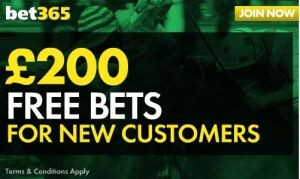 Sign up to the best bookmaker. Deposit anything up to £200 and get the same in free bets.